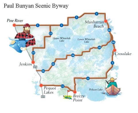 What Is A Byway Paul Bunyan Scenic Byway - Paul bunyan in us map