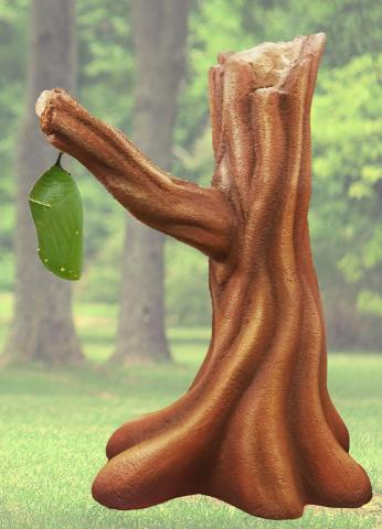 A Chrysalis statue made by Josh Porter of Avalon Sculptures.