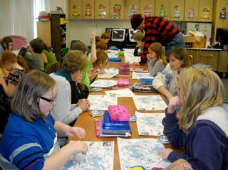 Students explore maps