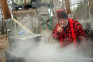 Past board member, Ron Johnson, made syrup from his maple trees.